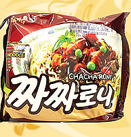 Локшина швидкого приготування з соусом з чорної квасолі, Chacharoni ramen, Sam Yang, 140г, Ст, фото 1