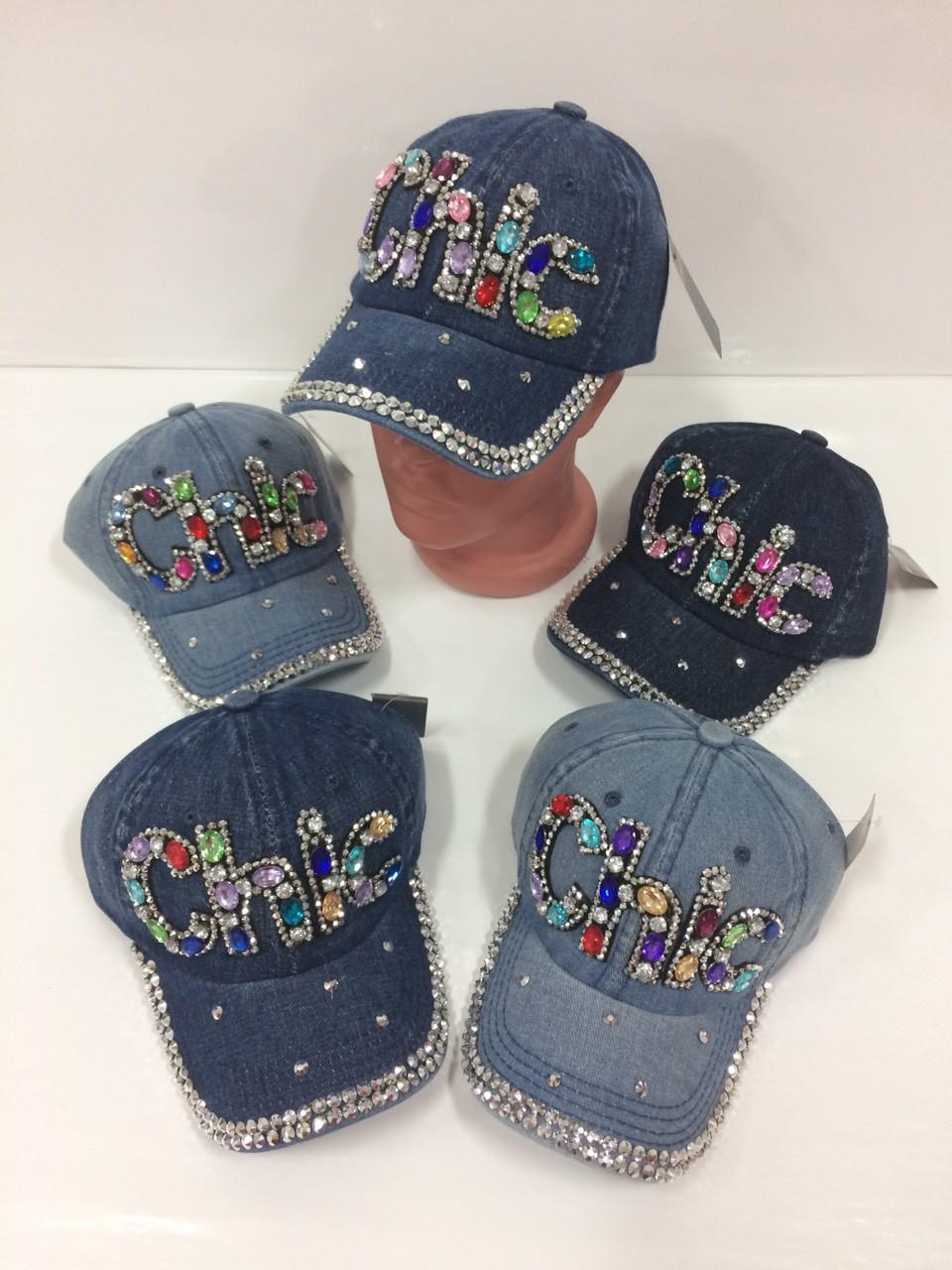 Детские джинсовые кепки Chic для девочек, р.52 Китай (Capri Corn)