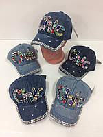 Детские джинсовые кепки Chic для девочек, р.52 Китай (Capri Corn), фото 1