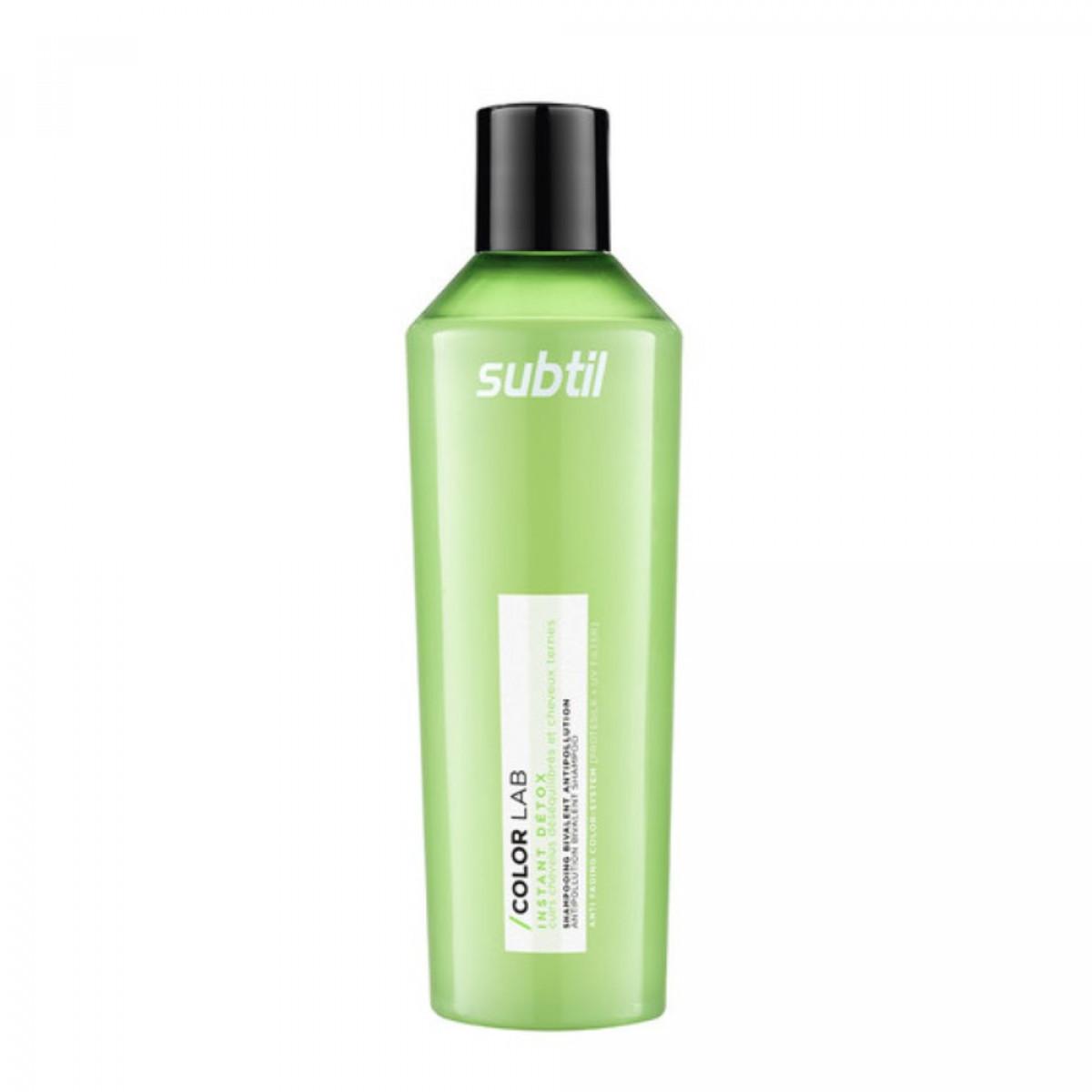 Subtil Color Lab Instant Detox Shampoing Bivalent Antipollution - Шампунь для волос с жирными корнями, 300 мл