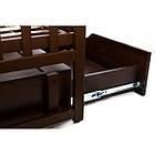 """Комплект """"Дитячий сон"""" """"Лодочка с комодом"""" : Комод+ кроватка маятник+ матрас кокос + постельный набор. Темная, фото 9"""