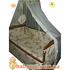 """Комплект """"Соня 2"""" : Комод кроватка матрас кокос постельный набор. Светлое дерево, фото 2"""