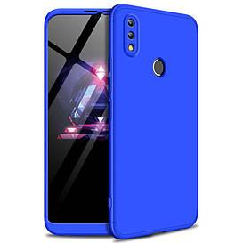 Чехол накладка для Huawei Honor 8X противоударный пластиковый матовый, GKK, Синий