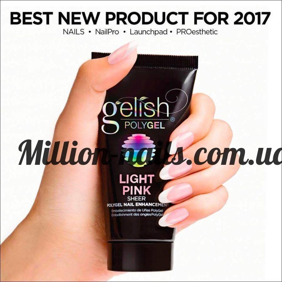 Gelish PolyGel Light Pink (светло-розовый), 30 грамм