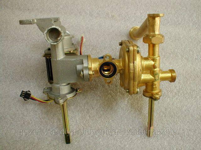 Блок газового і водяного редуктора в зборі для газової колонки Дион