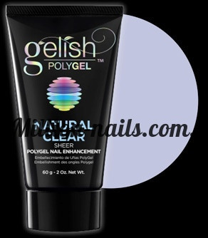 Gelish PolyGel Natural Clear(прозрачный), 30 грамм