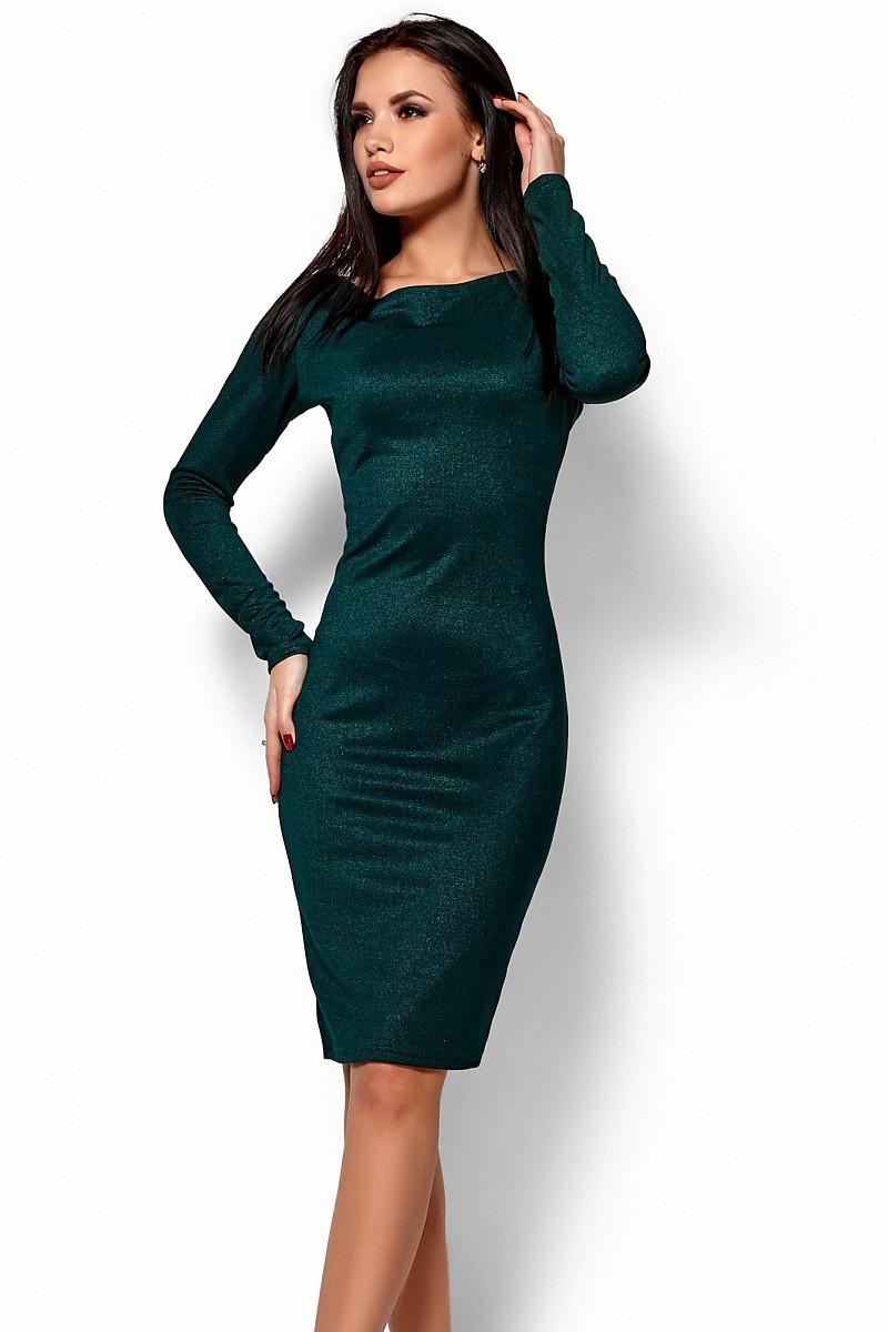 S, M / Вечернее темно-зеленое платье с кружевом Lusy