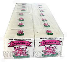 Салфетки бумажные Лилия белые однослойные - 30 шт.