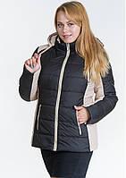 Куртка жіноча №15 (чорний/бежевий)