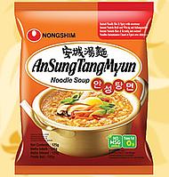 Локшина швидкого приготування, гостра, AnSungTangMyun, Nongshim, 125г, Ст