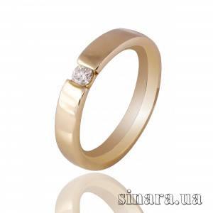 Кольцо из желтого золота с бриллиантом 20575