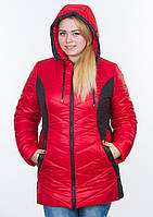Куртка жіноча №26 (червоний/чорний), фото 1