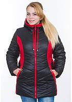Куртка жіноча №26 (чорний/червоний)