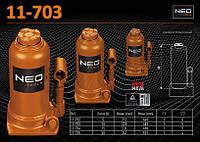 Домкрат гидравлический бутылочный 10т., NEO 11-703, фото 1