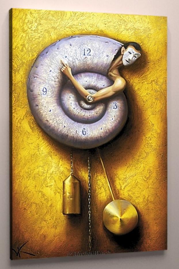 Картина креативные часы холст 60х40