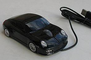 Мышка компьютерная проводная Porsche черная