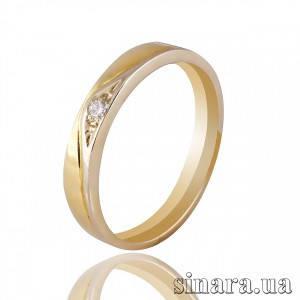 Кольцо из желтого золота с бриллиантом 7112