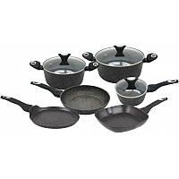 Набір посуду 9 предметів з мармуровим покриттям Klausberg 7200 KB