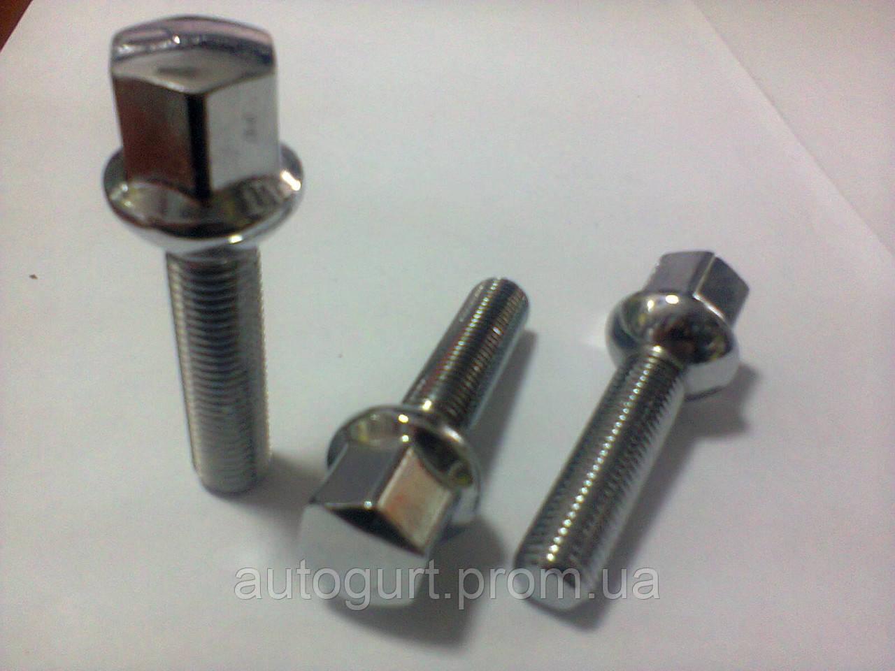 Болт колеса B1726 50mm GN209 L75 12x1.5x50,17 GN209 L75 сфер./хром (Mercedes)