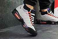 Кроссовки мужские серые Nike Air Max 95 Sneakerboot, мужские весенние кроссовки (Реплика)