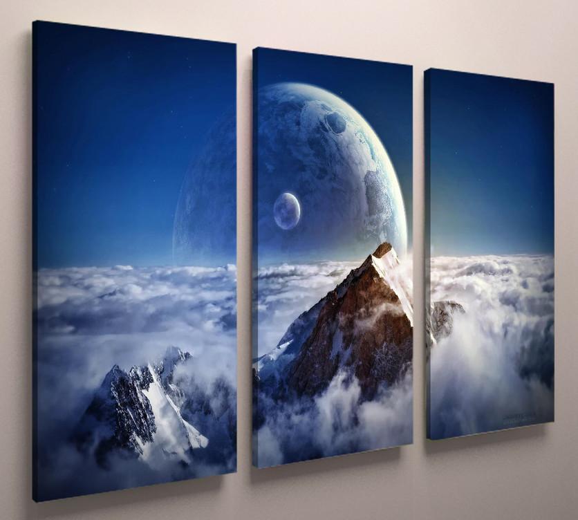 Картина модульная природа горы 90х60