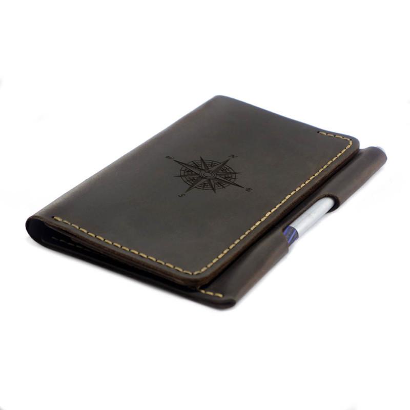 """Портмоне для документов кожаное с карманом для ручки """"WindWriter"""". Цвет коричневый"""