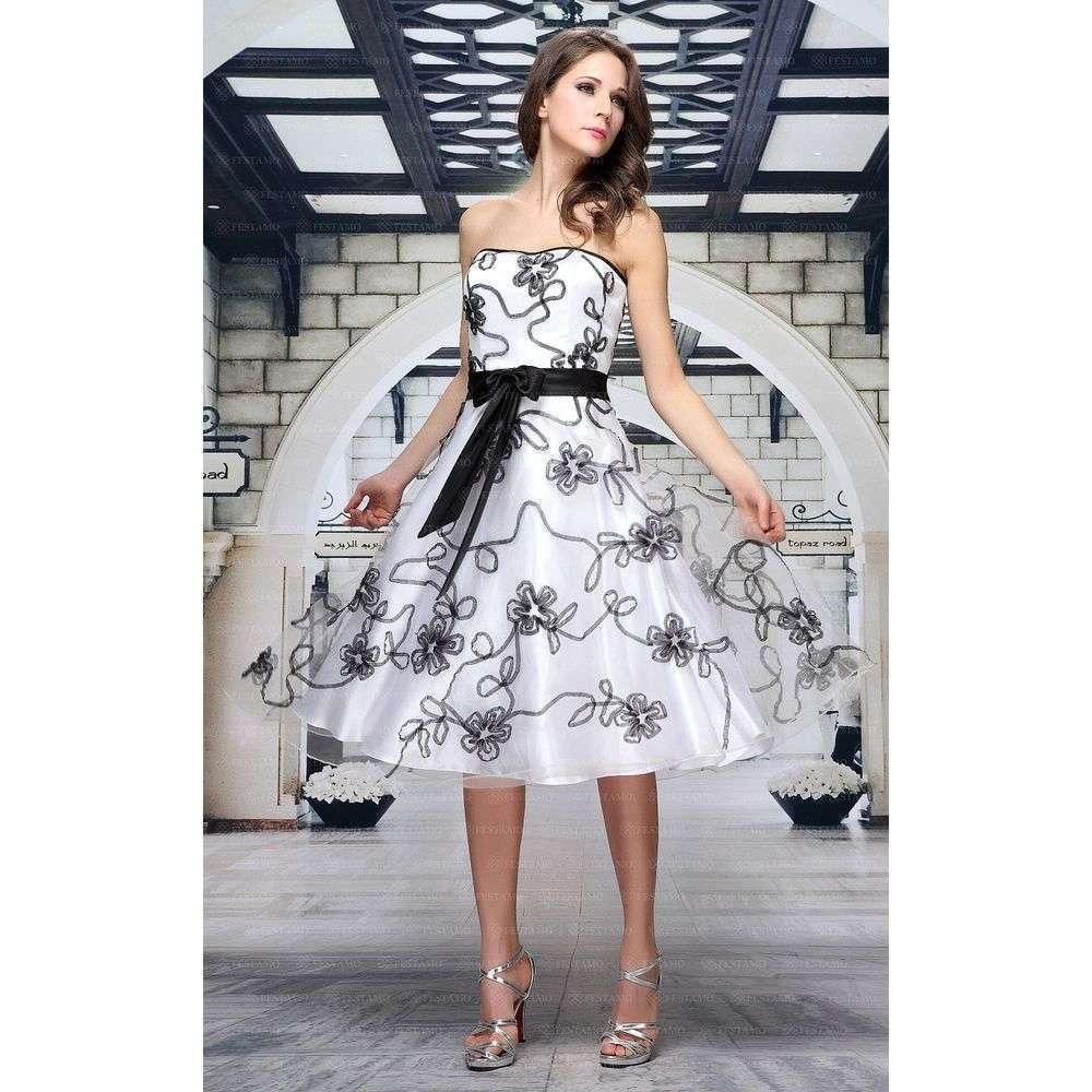 Женское платье от Festamo - белый - Мкл-F7293-белый