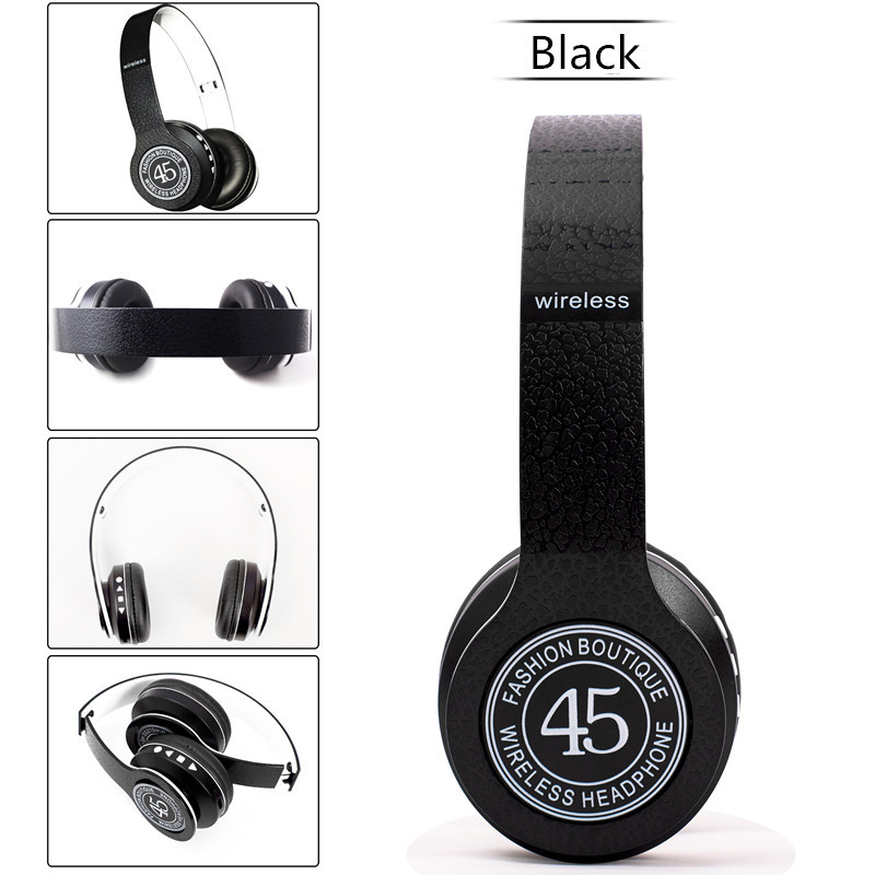 Беспроводные Bluetooth наушники P45 WIRELESS BLACK (в стиле monster beats solo)