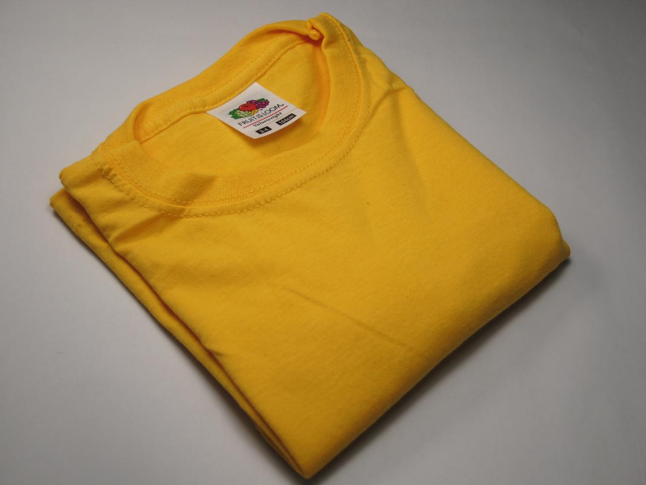Классическая футболка для мальчика Солнечно-жёлтая размер 9-11 лет (140 см) 61-033-34
