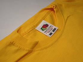 Классическая футболка для мальчика Солнечно-жёлтая размер 9-11 лет (140 см) 61-033-34, фото 2