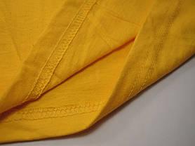Классическая футболка для мальчика Солнечно-жёлтая размер 9-11 лет (140 см) 61-033-34, фото 3