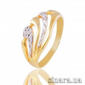 Кольцо из желтого и белого золота 6188