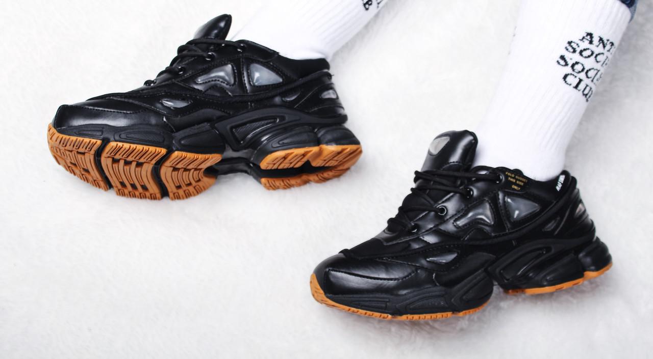 "Кроссовки женские Adidas x Raf Simons Ozweego III ""Core Black & Mesa"" / ADW-1510 (Реплика)"