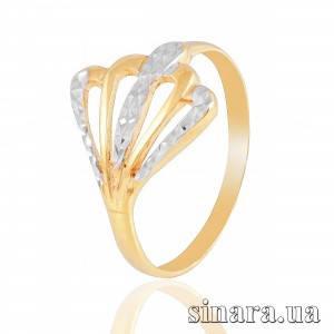 Кольцо из желтого и белого золота 6266