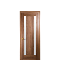 Дверне полотно Босса 80см зі склом сатин ПВХ-Deluxe
