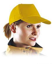 Кепка пятипанельная, желтая