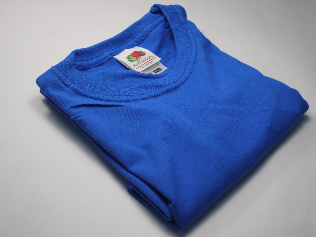 Классическая футболка для мальчика Ярко-синяя  размер 12-13 лет (152 см) 61-033-51