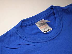 Классическая футболка для мальчика Ярко-синяя  размер 12-13 лет (152 см) 61-033-51, фото 3
