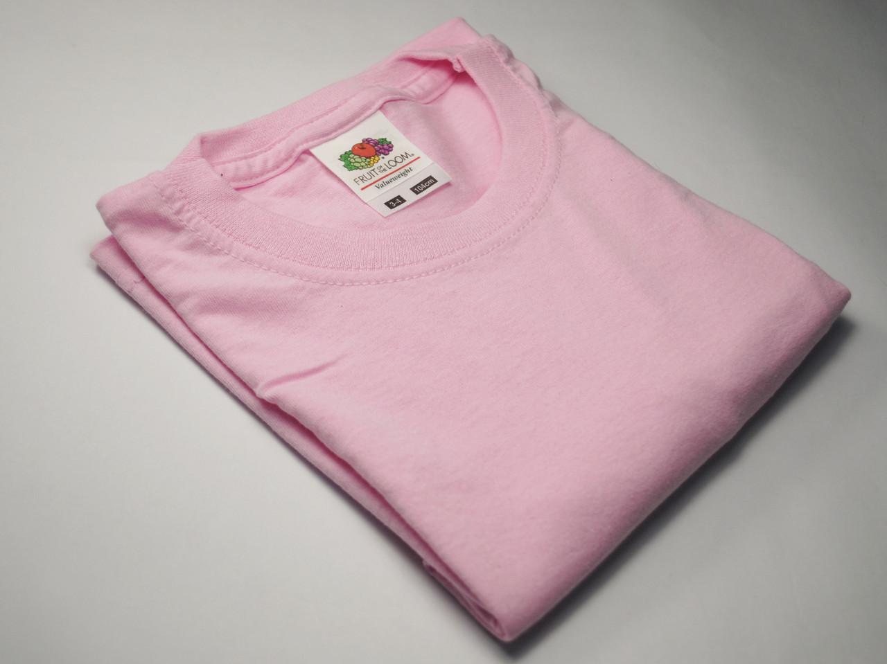 Классическая футболка для мальчика Светло-розовая  размер 2-3 года (98 см) 61-033-52
