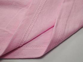 Классическая футболка для мальчика Светло-розовая  размер 2-3 года (98 см) 61-033-52, фото 3