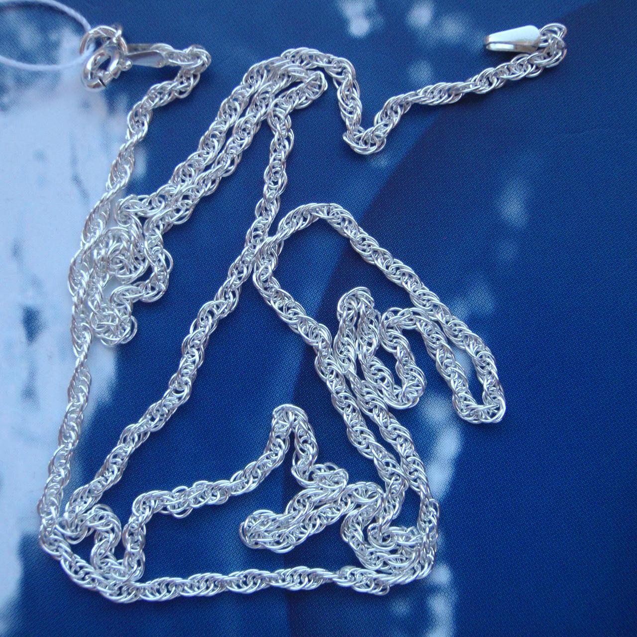 Срібна ланцюжок, 450мм, 4 грами, плетіння Палять