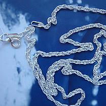 Срібна ланцюжок, 450мм, 4 грами, плетіння Палять, фото 3