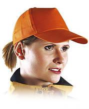 Кепка пятипанельная, оранжевая