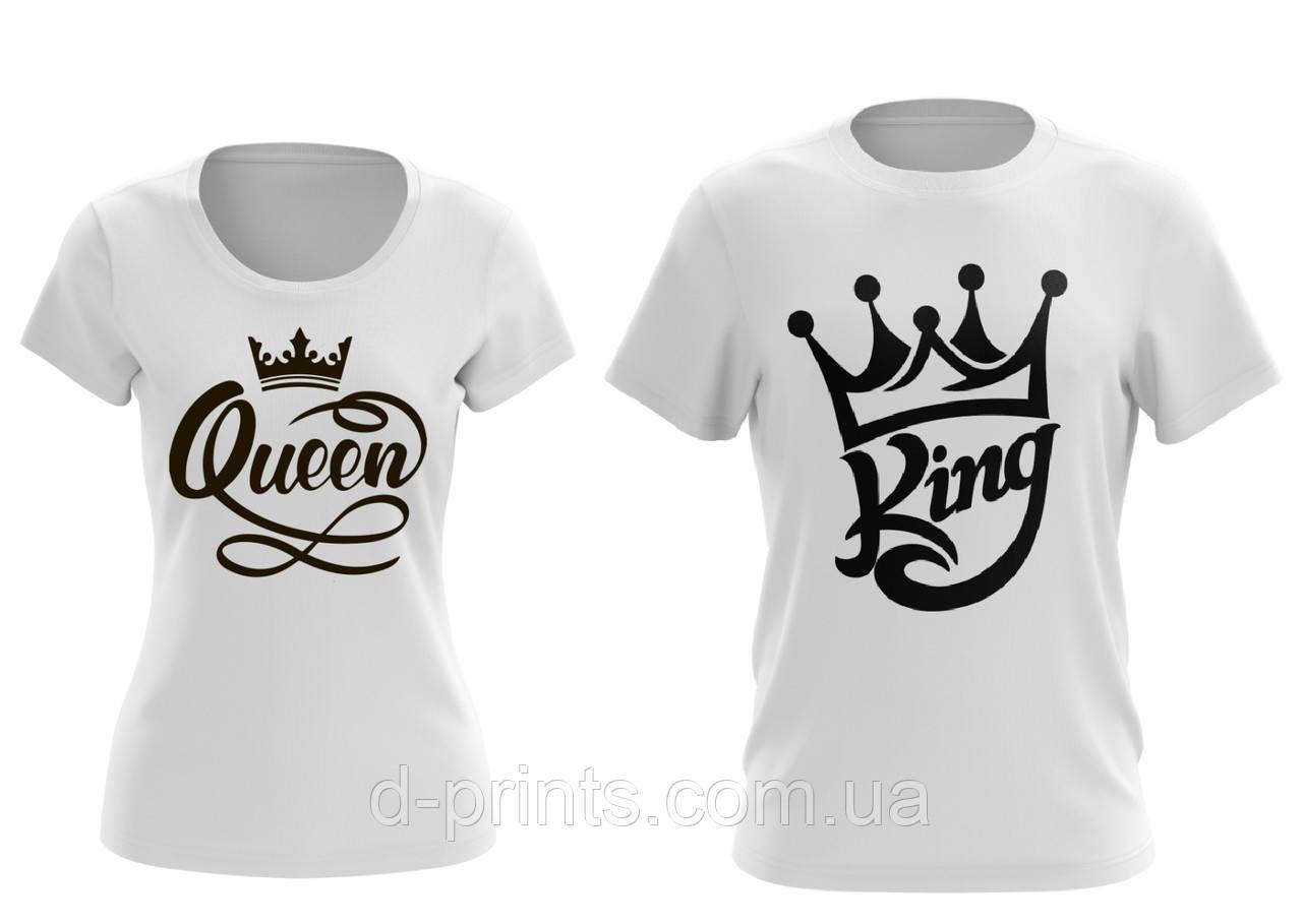 """Парные футболки """"Король и Королева"""""""