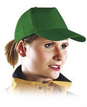 Кепка пятипанельная, зеленая