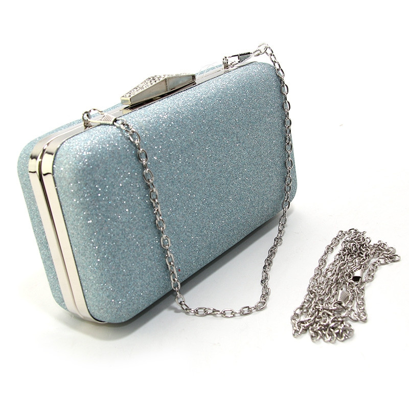 eb881523303f Клатч-бокс мини женский серебристо голубой блестки Rose Heart 09829, ...