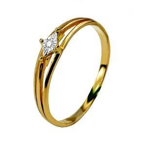 Кольцо из красного золота с бриллиантом 29787