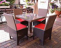 Комплект садовой мебели из ротанга Виконт Квадро