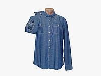 Мужская джинсовая рубашка с налокотниками с длинным рукавом Surplus
