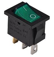 KCD1-2-101N G/B  220V Переключатель 1 клав. зеленый с подсветкой TNSy (TNSy5500688)